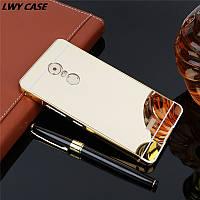 Чехол для Lenovo K6 Note зеркальный золотистый, фото 1
