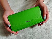 Женский кошелек на кнопке elegant зеленый
