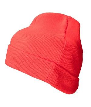 В'язана шапка з відворотом 7112-40