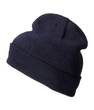 В'язана шапка з відворотом 7112-32