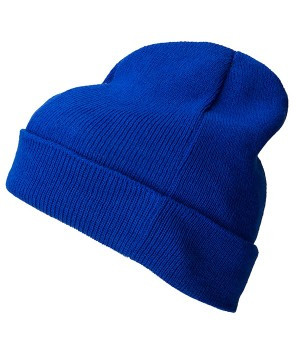 Вязаная шапка с отворотом 7112-51