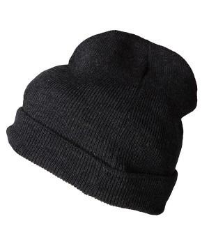 Вязаная шапка с отворотом 7112-ГЛ
