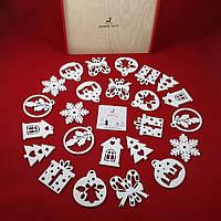 """Набір новорічних іграшок """"Казковий"""" 24 шт."""