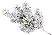Ветка елки декоративная заснеженная 35*14*6см, декорация на Новый год