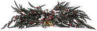 Новогодний декор ветка с ягодами 70см, декорация на Новый год