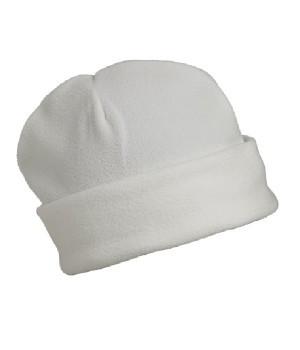 Флисовая шапка с отворотом белая 7720-30