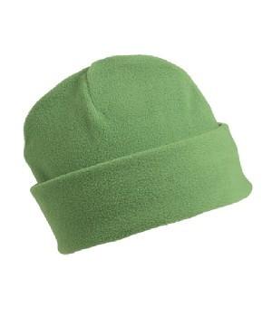 Флисовая шапка с отворотом салатовая 7720-47