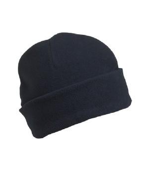 Флісова шапка з відворотом темно-синя 7720-АЗ
