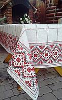 """Вышитая скатерть с салфетками в украинском стиле """"Праздничная"""""""