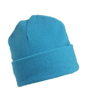 Флисовая шапка с отворотом бирюзовая 7720-ЗУ