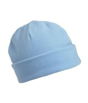 Флисовая шапка с отворотом голубая 7720-УТ