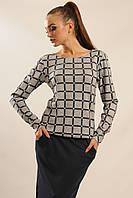 Стильная блуза кофта Сити-Зима в стиле casual  из ангоры 42-52 размеры