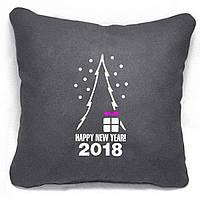 """Новогодняя подушка """"Happy New Year 2018"""" 47"""