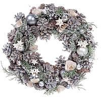 Новогодний венок из природных материалов 32см, декорация на Новый год