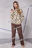 Женская теплая махровая пижама.Размеры M - XL.