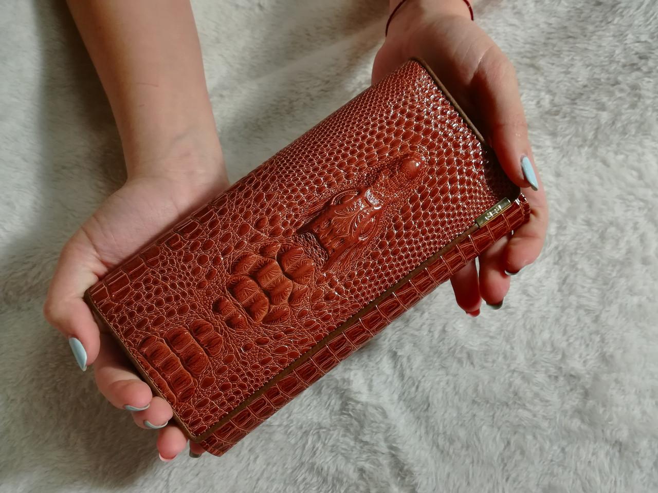 Женский кожаный кошелек на кнопке, красивый стильный современный