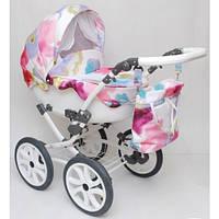 Детская коляска 2 в 1 Anmar Ellina-11 колеса 14(цветочки)