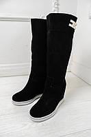 Сапоги демисезонные Подіум  Женские сапоги в стиле Подіум Givenchy 20860 38 Черный