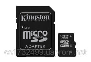 Карта памяти Kingston MicroSDHC 8 Gb class 4 (SDC4/8GB)