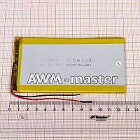 Аккумулятор 3766125 для China (Li-ion 3.7В 5000мА·ч), (125*66*4 мм) 2 контакта (провода)