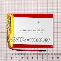 Аккумулятор 486789 для China (Li-ion 3.7В 4500мА·ч), (90*70*5 мм) 2 контакта (провода)