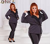 Костюм женский брюки+жакет по 56 размер  р1545
