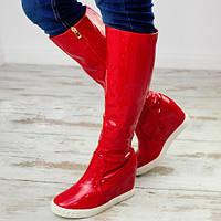 Сапоги демисезонные Подіум Женские осенние сапоги Подіум Brook  6872-RED 38 Красный