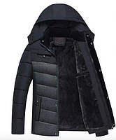 "Мужская куртка зимняя Black-Grey Classic ""GYFS-Fur"""