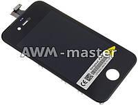 Дисплей Apple iPhone 4G с сенсром черный Original Pass
