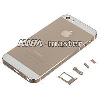 Задняя крышка Apple iPhone 5S золотой