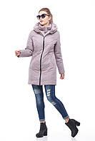 Удлиненная сиреневая зимняя куртка на молнии, двойная защита от холода, зима 2018 , размеры 46-58