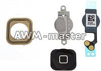 Пластиковая кнопка MENU Apple iPhone 5 черная