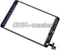 Сенсорное стекло Apple iPad Mini с микросхемой и кнопкой меню.черный H/C
