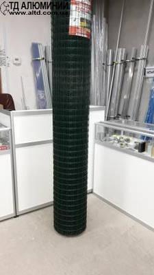 Сетка сварная пвх для забора - ячейка 50х50 - рулон  2х25