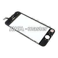 Сенсорное стекло на рамке Apple iPhone 5 черный H/C