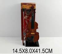 Скрипка pf2189-a (873638) (36шт/2) на подставке,в кор. 14,5*8*41,5см