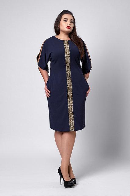 Женское платье размеры 50,52,56,58,60 синего цвета