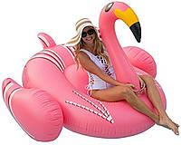 Надувной матрас Фламинго. Для пляжа, бассейна и вечеринок. Размер 190 см плот розовый фламинго