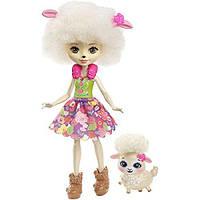 """Кукла Enchantimals «Ягненок Лорна с питомцем"""" Энчантималс Девочки животные"""