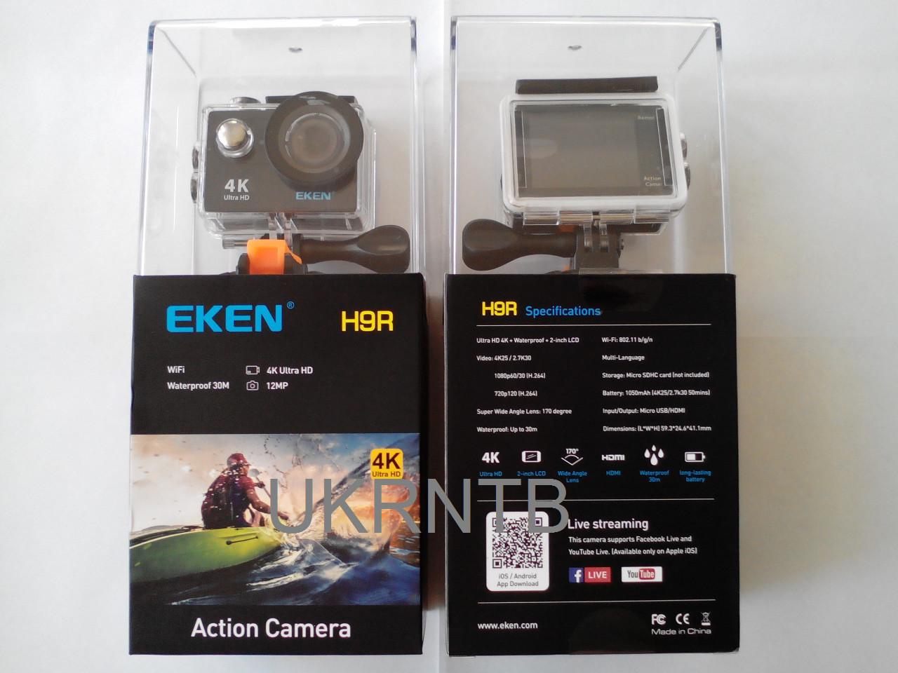 Екшн камера / Action camera EKEN H9 Wi-Fi / Аналог GoPro Hero, SJCAM SJ4000, Xiaomi YI