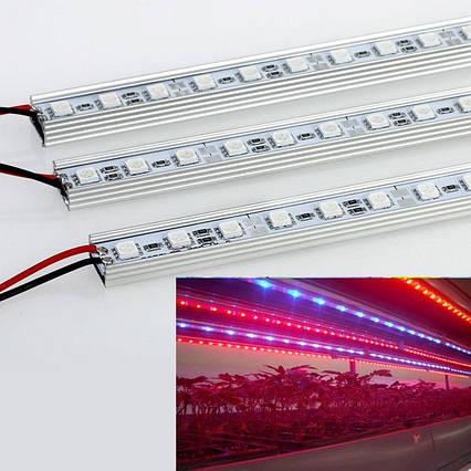 Фитолента для подсветки растений 15W 50см. 12V 36LED SMD5630 (с блоком питания), фото 2