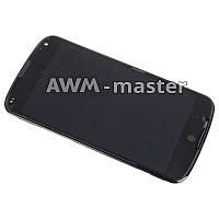 Дисплей LG E960,Nexus 4 с сенсором на рамке. черный Оригинал