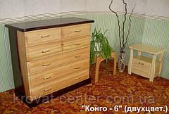 """Деревянный комод """"Конго - 6"""" двухцветный, фото 3"""