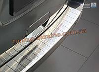 Накладка на задний бампер с бортиком и ребрами на Citroen Space Tourer 2016