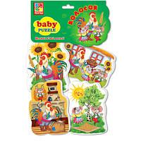 """Беби пазлы тм """"vladi-toys"""" из серии сказки """"колосок"""", vt1106-39 на украинском языке"""