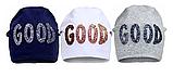 Демисезонная детская шапка (серая и синяя)  р-ры 52,54, фото 3