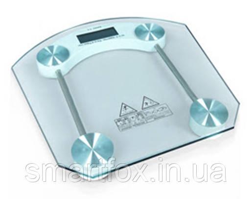 Весы электронные напольные бытовые стеклянные квадратные JKC-1, фото 2
