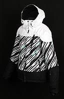 Женская горнолыжная(лыжная) куртка Just Play белая зебра