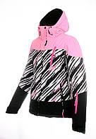Женская горнолыжная(лыжная) куртка Just Play розовая зебра
