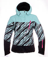 Женская горнолыжная(лыжная) куртка Just Play бирюзовая зебра